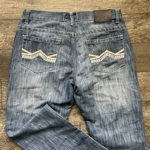 STEVE'S Washed blue jean Sz 34 straight Mid Rise